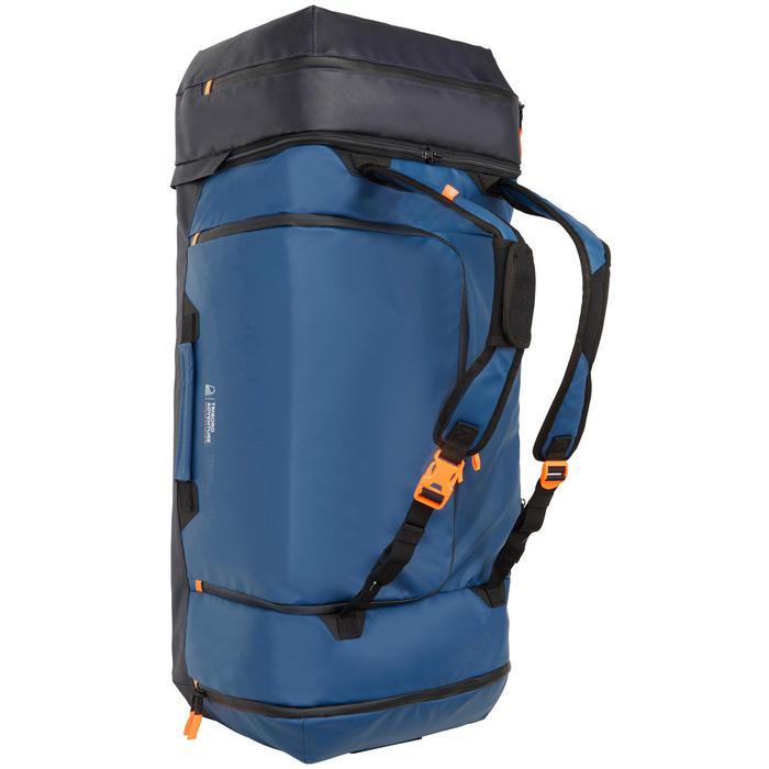 Waterdichte zeiltas 90 liter marineblauw