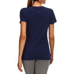 Dames T-shirt met korte mouwen voor gym en pilates, regular fit, gemêleerd - 178660