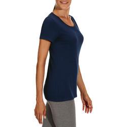 Dames T-shirt met korte mouwen voor gym en pilates, regular fit, gemêleerd - 178662