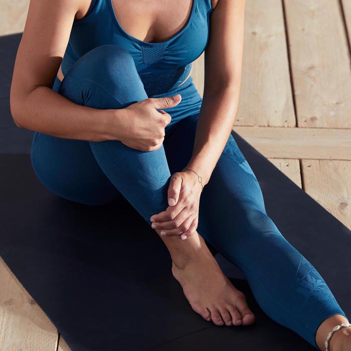 Naadloze 7/8-legging yoga eendenblauw