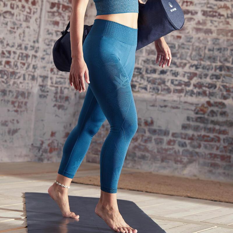 Mallas leggings Mujer seamless tobillero yoga azul petróleo