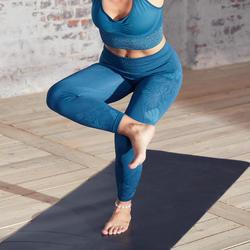 Malla yoga mujer leggins 7/8 Domyos azul verdoso