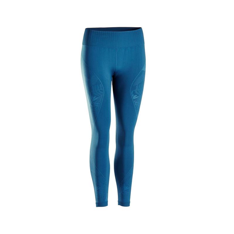 Leggings 7/8 donna yoga seamless blu