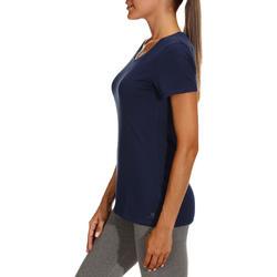 Dames T-shirt met korte mouwen voor gym en pilates, regular fit, gemêleerd - 178665