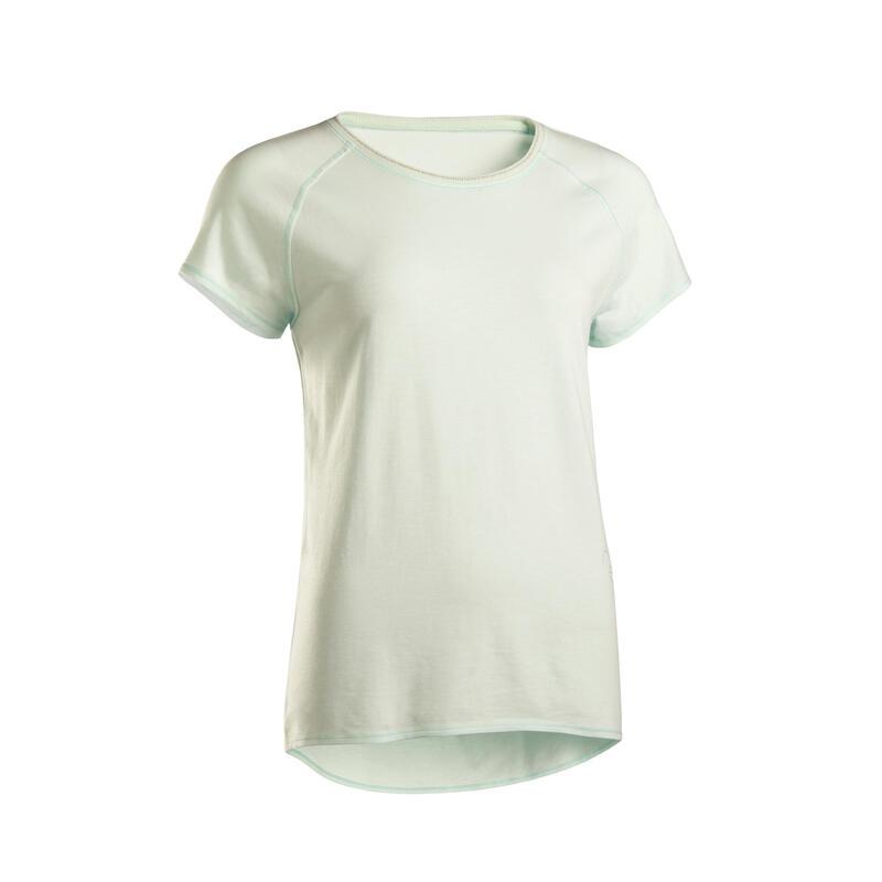 Koszulka do jogi krótki rękaw damska Kimjaly