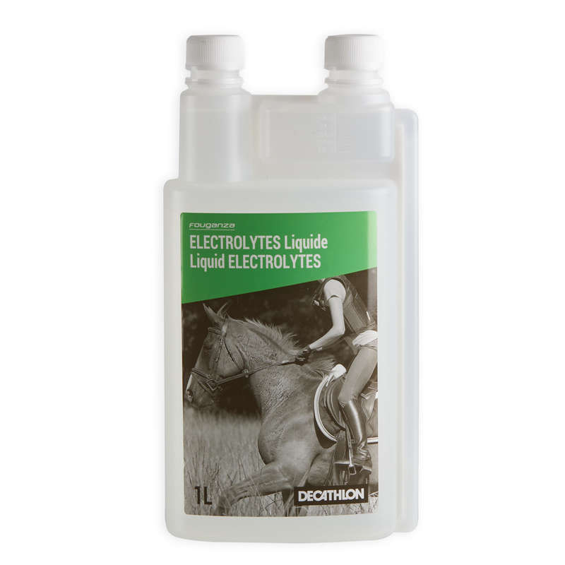 HORSE SUPPLEMENTS Horse Riding - Electrolytes Supplement 1L FOUGANZA - Horse Stable and Yard