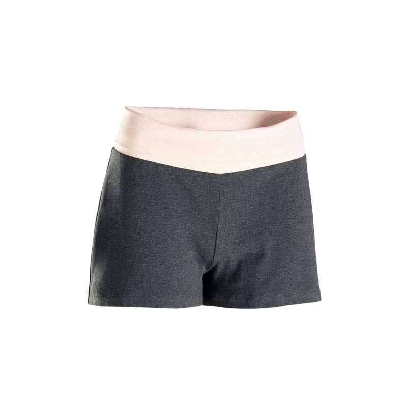 ABBIGLIAMENTO YOGA DONNA Yoga - Pantaloncini donna yoga grigi DOMYOS - Abbigliamento yoga