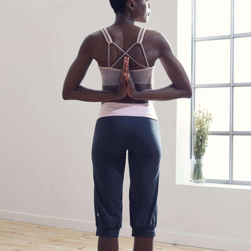 Pantalones Pirata comfort Yoga Embarazada Ecofriendly Gris Rosa