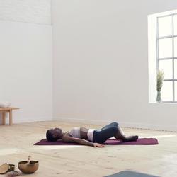 3/4-Hose sanftes Yoga Biobaumwolle Damen grau