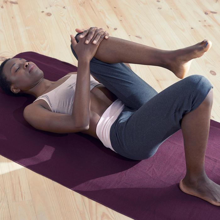 Kuitbroek voor zachte yoga dames biologisch katoen grijs