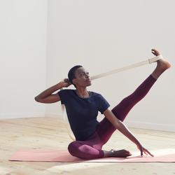 Legging voor zachte yoga dames biologisch katoen bordeaux