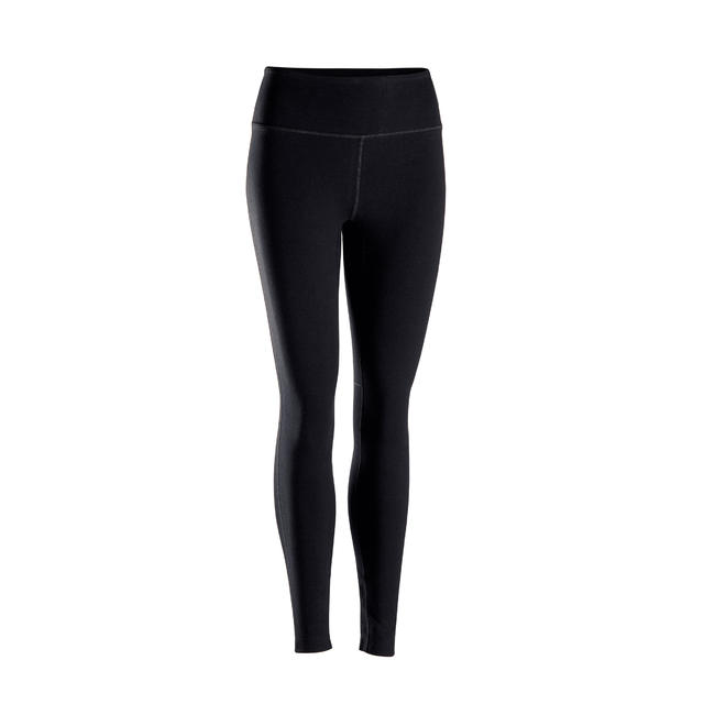 Women's Technical Gentle Yoga Leggings - Black