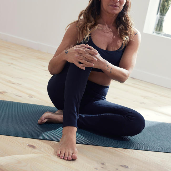 Women's Technical Gentle Yoga Leggings - Black