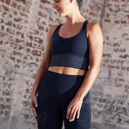 Seamless Long Dynamic Yoga Sports Bra
