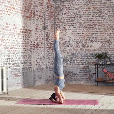 Seamless 7/8 Dynamic Yoga Leggings - Mottled Grey