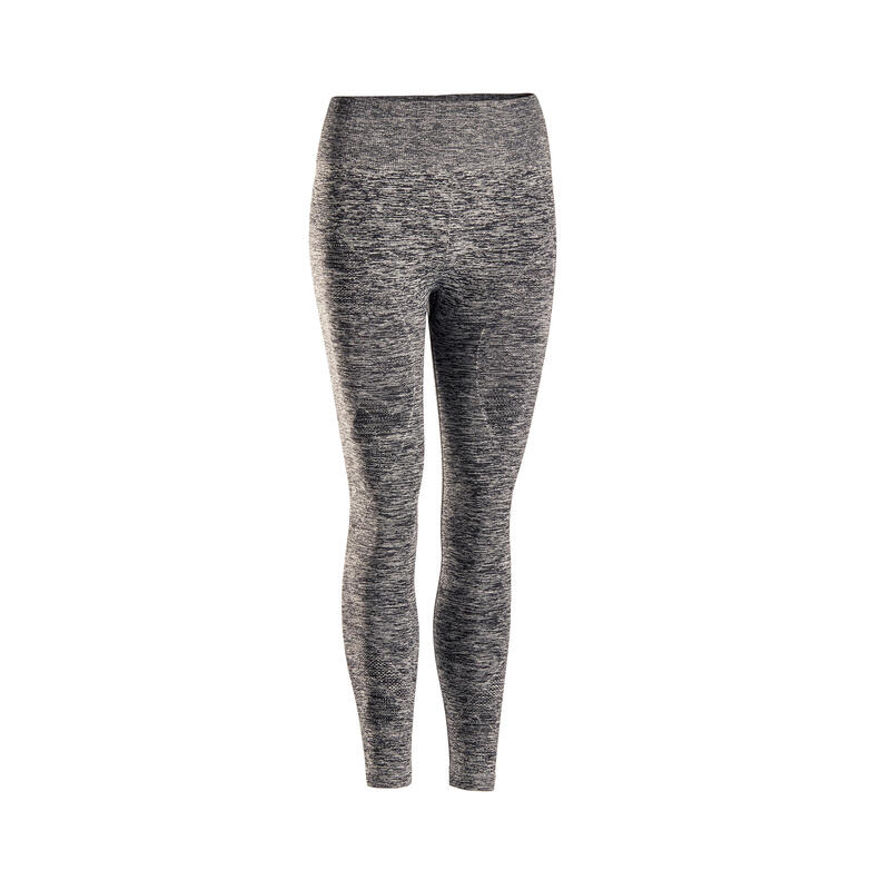 Leggings 7/8 donna yoga seamless grigio melange