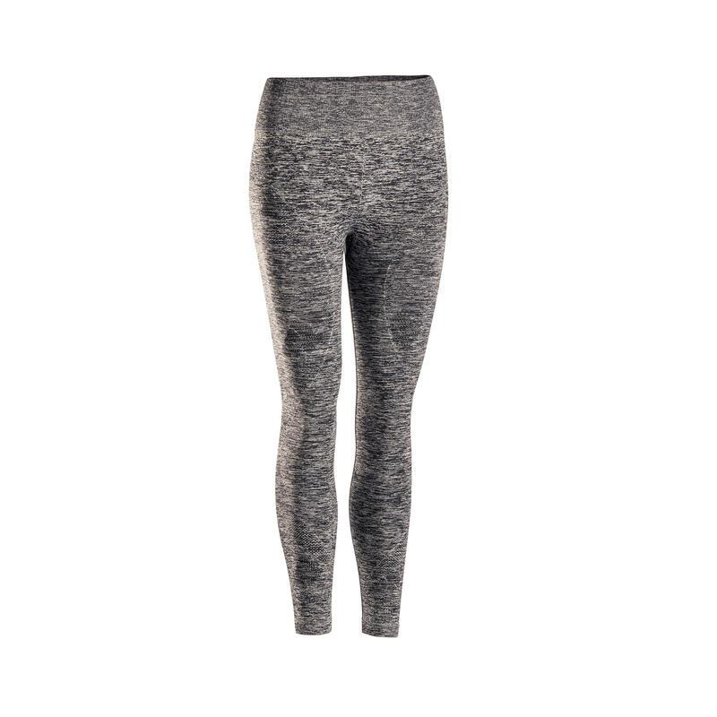 Naadloze 7/8-legging voor dynamische yoga gemêleerd grijs