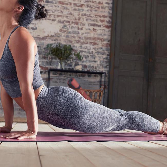 Seamless 7/8 Yoga Leggings - Mottled Grey
