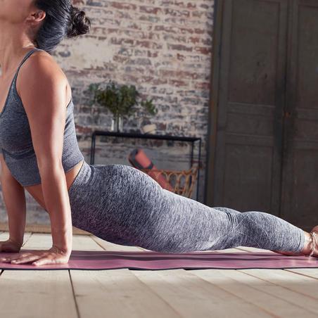 Legging Yoga 7/8 Tanpa Kelim - Abu-abu Berbintik