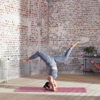 Soutien-gorge long de yoga dynamique sans couture
