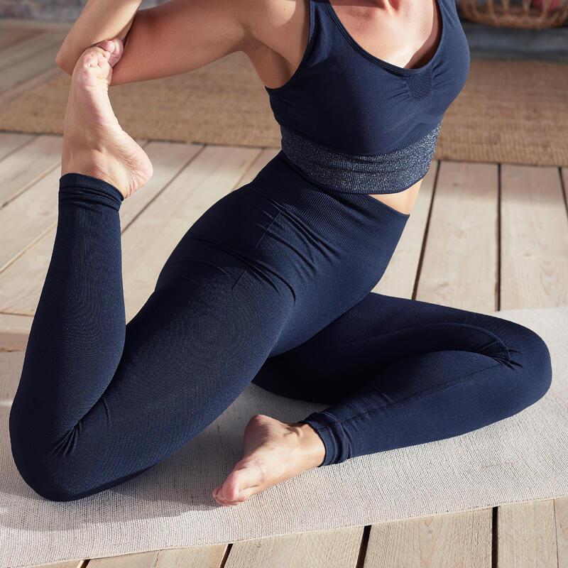 Mallas Leggings Seamless Mujer Yoga Negro