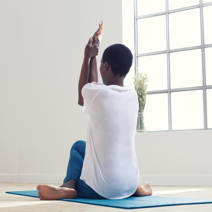 T-shirt voor zachte yoga dames biologisch katoen wit