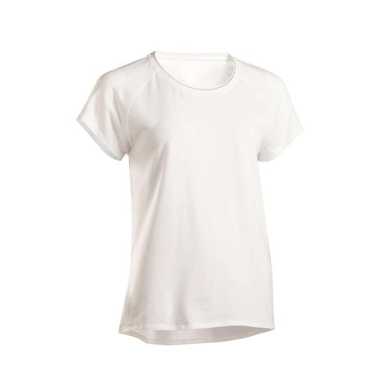 TUNNA TOPPAR/BYXOR WELLNESS DAM. Yoga - T-shirt mjuk yoga dam DOMYOS - Yogakläder