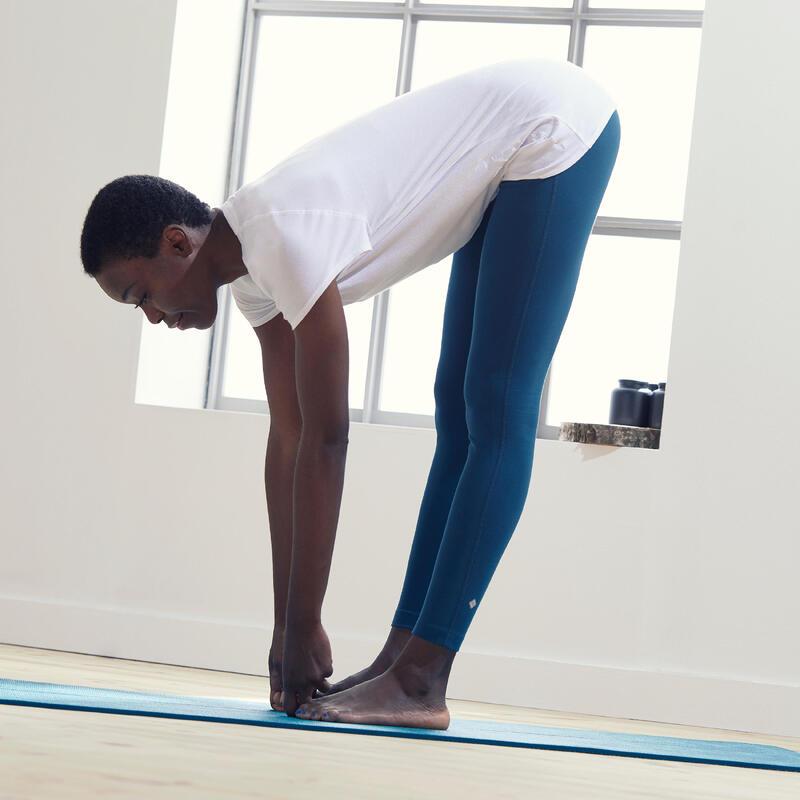 Mallas Leggings Comfort Mujer Yoga Ecofriendly Azul Petróleo