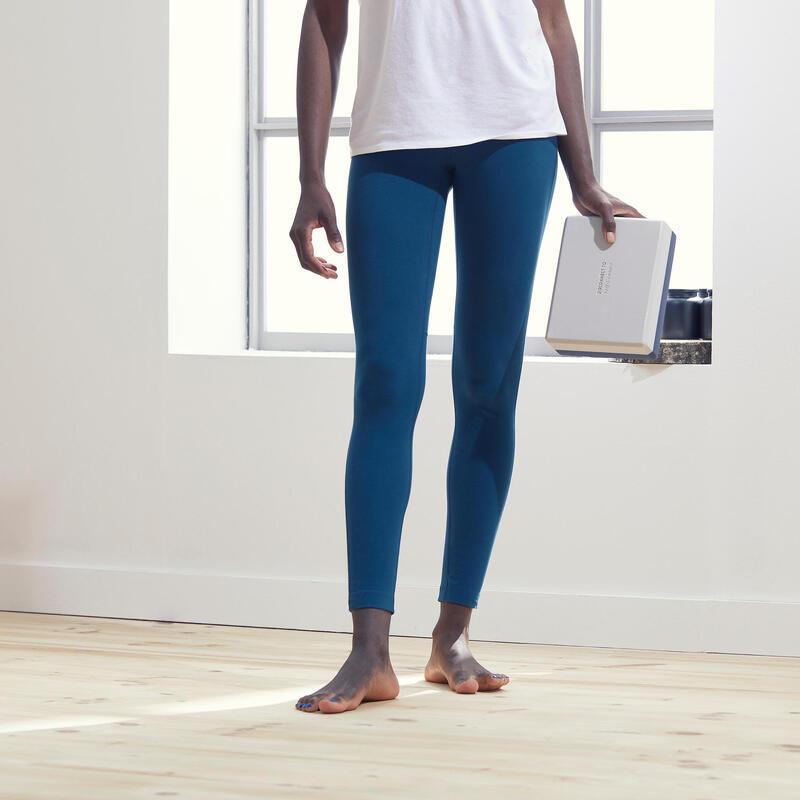 Women's Eco-Designed Technical Gentle Yoga Leggings - Teal