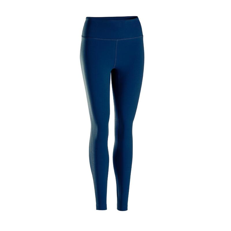 Leggings donna yoga soft blu