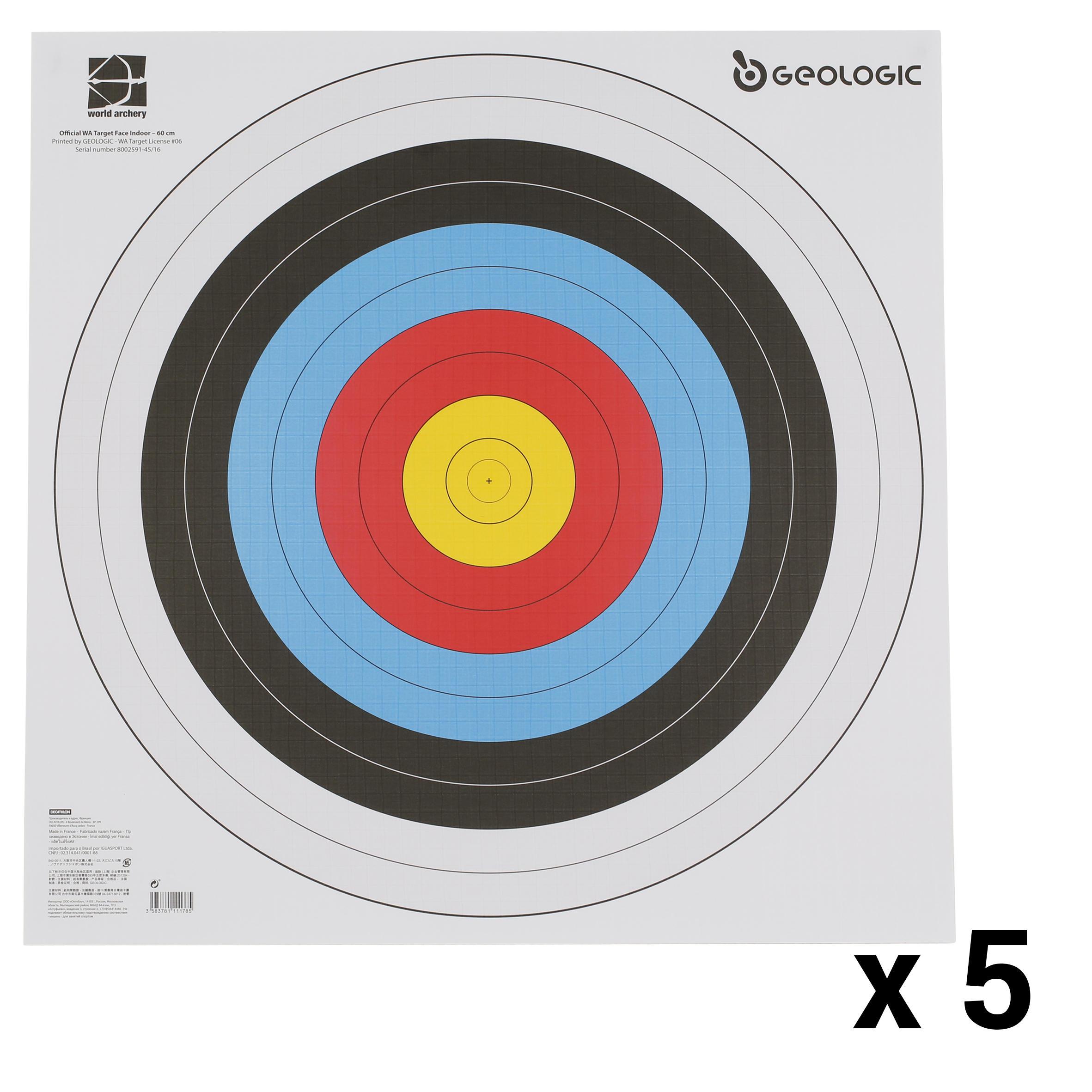 5 Ținte tir cu arcul 60x60 cm imagine