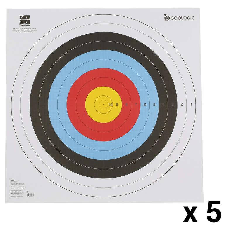 ARCHERY TARGETS,TARGET FACES,STANDS Archery - 5 Target Faces 80x80 cm GEOLOGIC - Archery