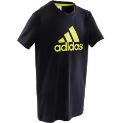 Camiseta niño adidas negro