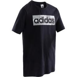 T-shirt voor jongens blauw met logo op de borst