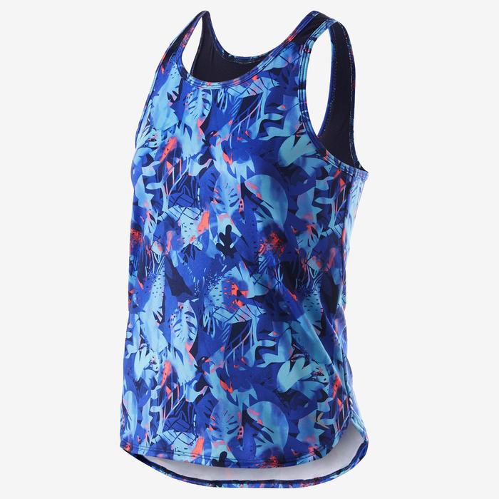 Camiseta sin mangas sintética transpirable S500 niña GIMNASIA INFANTIL violeta e