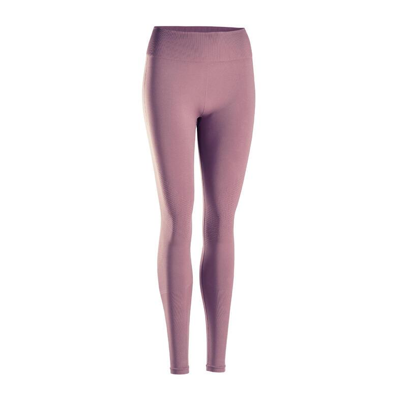 Leggings donna yoga seamless lilla-grigio