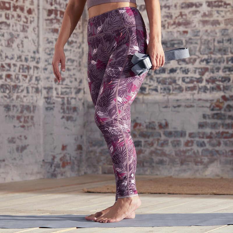 WOMAN YOGA APPAREL Fitness and Gym - Reversible Yoga Leggings DOMYOS - Gym Activewear