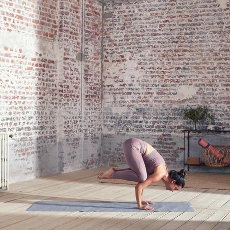 Reversible Dynamic Yoga Leggings - Purple/Grey