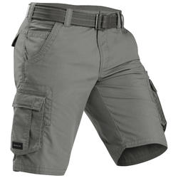 Short de trek voyage - TRAVEL 100 kaki homme