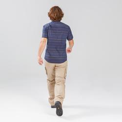 Travel 100 Fresh Men's Short-Sleeved Shirt - Blue