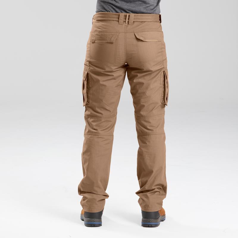 Men's travel trekking trousers - TRAVEL 100 - brown