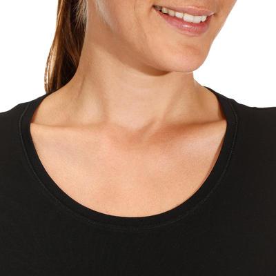 Stretchy Cotton Fitness T-Shirt - Black