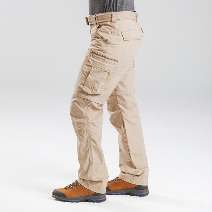 Pantalon de trek voyage - TRAVEL 100 MODUL sable homme