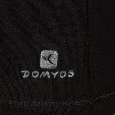 تيشرت الجيم وتمارين البيلاتس قصير الأكمام DOMYOS للسيدات - أسود