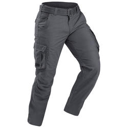 Men's trekking trousers - TRAVEL 100 - grey