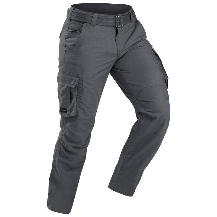 Broek voor backpacken Travel 100 heren grijs