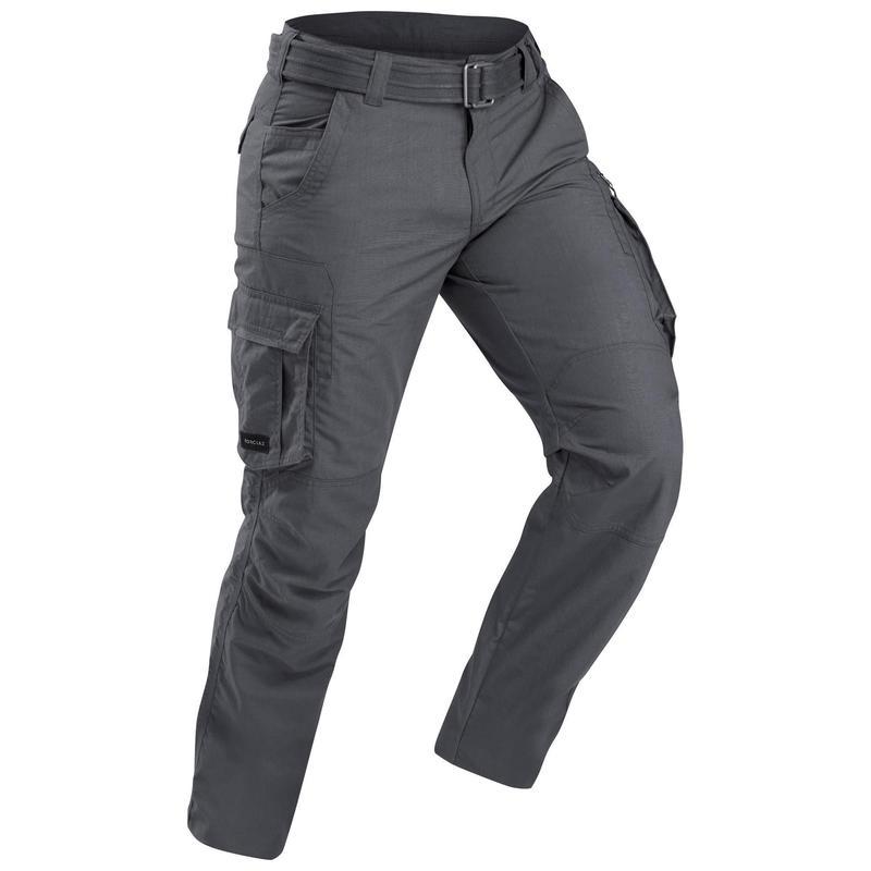 Pantaloni trekking cargo uomo TRAVEL100   con cintura rimovibile