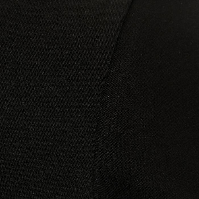 女款標準剪裁健身T恤500 - 黑色