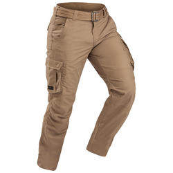 Broek voor backpacken Travel 100 heren bruin