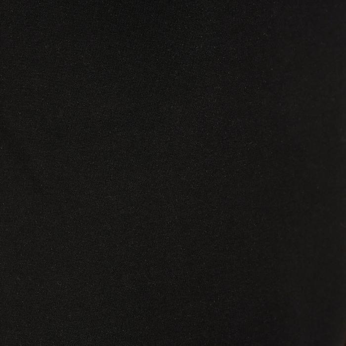 Camiseta Manga Corta Gimnasia Pilates Domyos 500 Mujer Negro